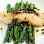 Halibut Picatta with Asparagus Square Recipe Preview Image