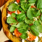 Pesto and Goat Cheese Pizza Square Recipe Preview Image