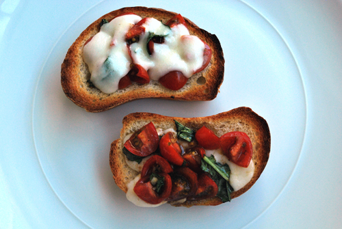 Bruschetta recipe and image by Lacey Stevens-Baier, personal chef of Sweet Pea Chef