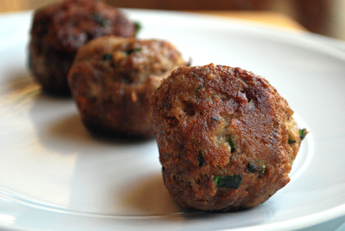 Meatball recipe and image by Lacey Stevens-Baier, personal chef of Sweet Pea Chef