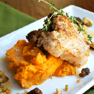 Rye-Stuffed Pork Chops Square Recipe Preview Image