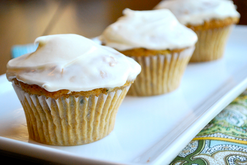 Sweet Zucchini Cupcakes with Cream Cheese Frosting • A Sweet Pea ...