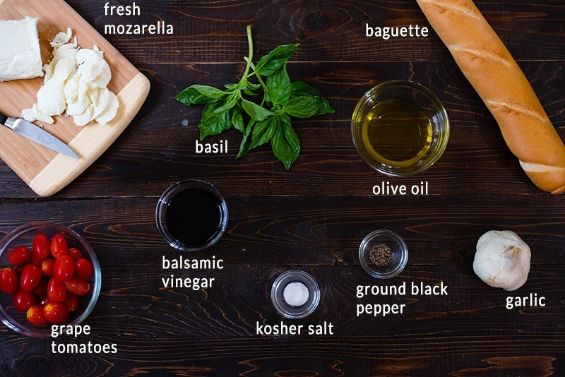 Tomato Basil Bruschetta - Ingredients