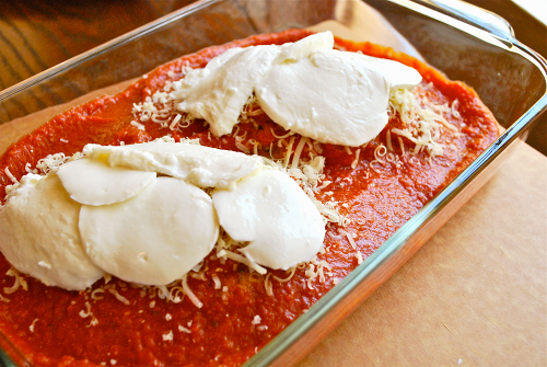 Chicken Parmesan recipe and image by Lacey Stevens-Baier, personal chef of Sweet Pea Chef