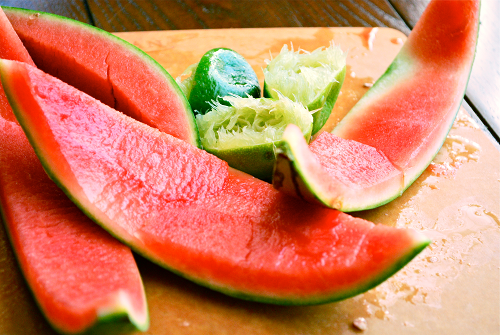 Watermelon Sorbet recipe and image by Lacey Stevens-Baier, A Sweet Pea chef