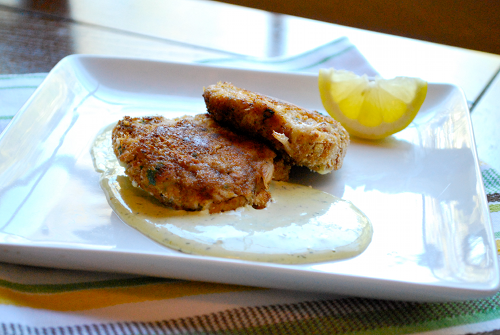 Best Crab Cakes with Lemon-Dill Aioli recipe and images by Lacey Stevens-Baier, a sweet pea chef