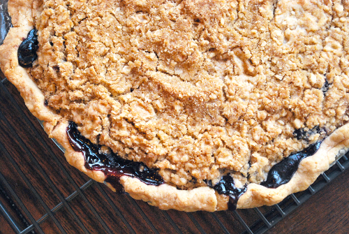 Blueberry Crumble Pie recipe and images by Lacey Stevens-Baier, A Sweet Pea Chef