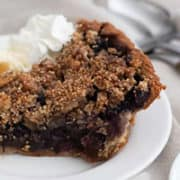 Healthy Blueberry Pie | With Sweet Crumble Topping