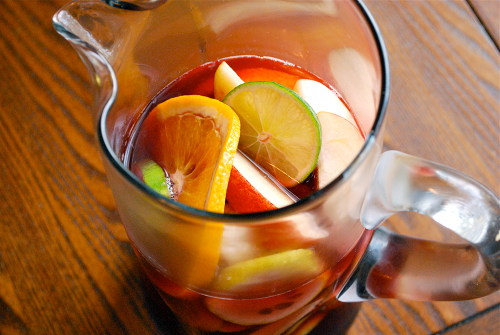 Recipe and images of Virgin Sangria by Lacey Stevens-Baier, a sweet pea chef
