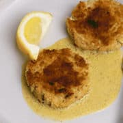 Healthy Crab Cakes | With Lemon Dill Aioli
