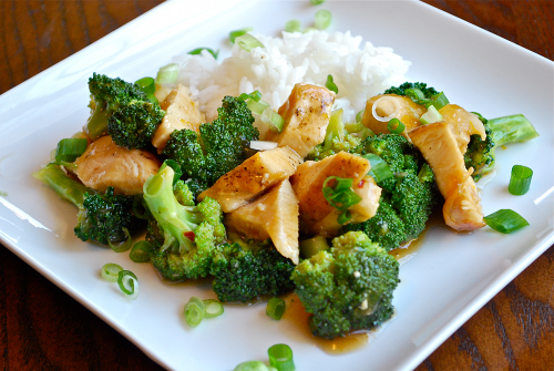 Recipe and images of Easy Orange Chicken by Lacey Stevens-Baier, a sweet pea chef