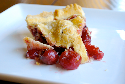 Recipe and image of Sweet Cherry Pie by Lacey Stevens-Baier, a sweet pea chef