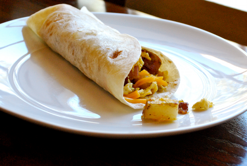 Homemade Breakfast Burritos recipe by Lacey Baier, a sweet pea chef