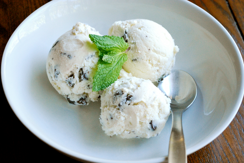 Mint Chocolate Chip Ice Cream recipe and images by Lacey Stevens-Baier, a sweet pea chef