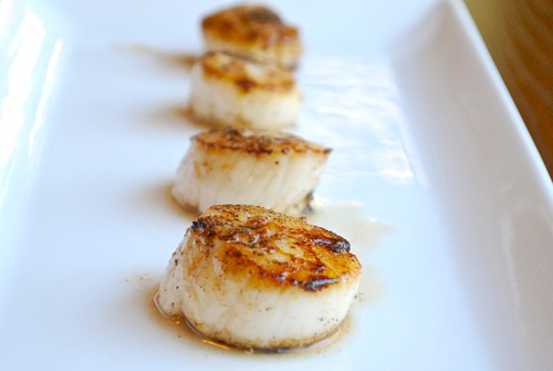 Pan-Seared Scallops with Linguine and Roasted Pine Nuts recipe by Lacey Baier, a sweet pea chef