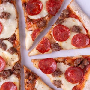 Italian Sausage and Pepperoni Pizza