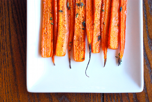 Thyme-Roasted Carrots recipe and images by Lacey Baier, a sweet pea chef