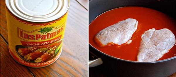Shredded Chicken Enchiladas - Cooking The Chicken
