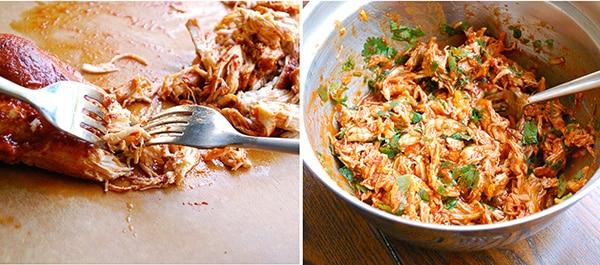 Shredded Chicken Enchiladas - Shredding The Chicken