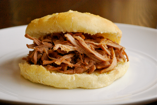 Apple Cider Pulled Pork Sandwiches recipe and images by Lacey Baier, a sweel pea chef