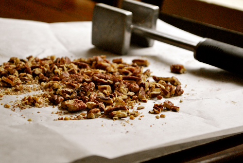 Pumpkin Frozen Yogurt with Roasted Pecans recipe by Lacey Baier, a sweet pea chef