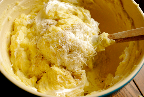 Parmesan Mashed Potatoes recipe and images by Lacey Baier, a sweet pea chef