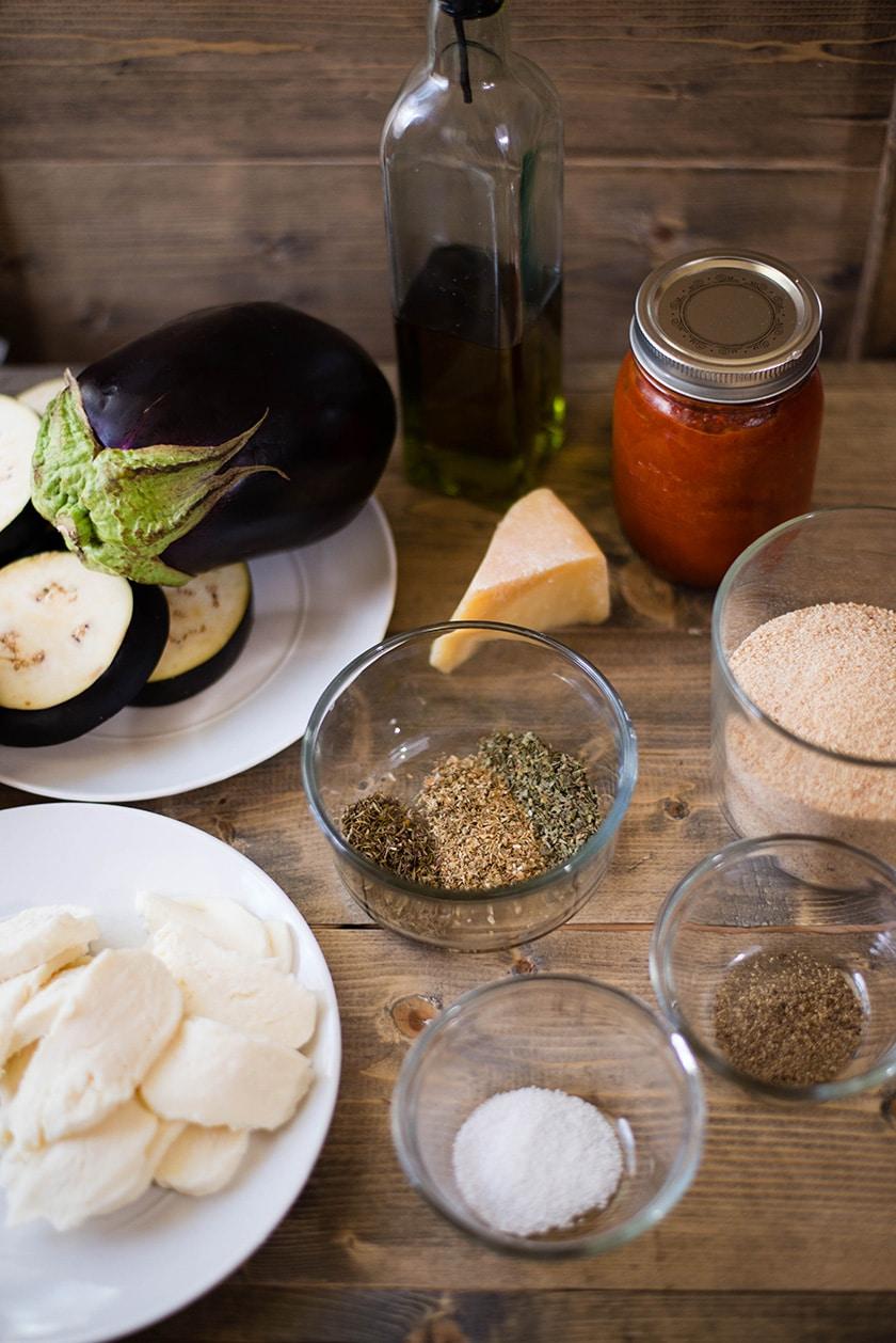 Easy Baked Eggplant Parmesan - Ingredients