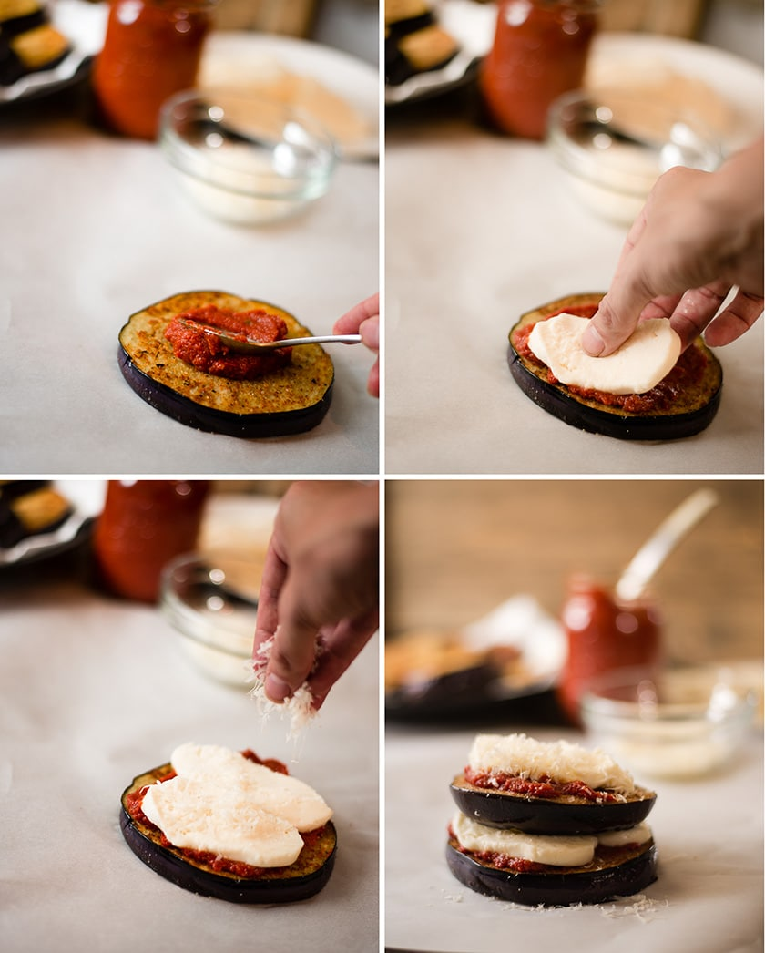 Easy Baked Eggplant Parmesan - Prep Work