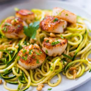 Easy Pan Seared Scallops + A Super Awesome Giveaway!