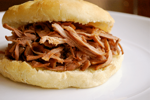 Apple Cider Pulled Pork Sandwich