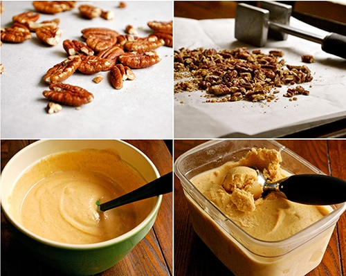 Pumpkin Frozen Yogurt with Roasted Pecans