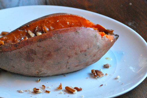 Baked Sweet Potatoes with Whipped Honey Cinnamon Butter by Lacey Baier, a sweet pea chef