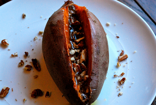 Baked Sweet Potatoes with Whipped Honey Cinnamon Butter