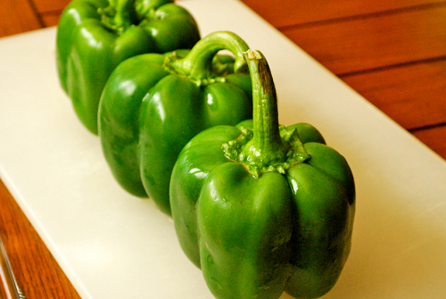 Stuffed Bell Peppers recipe and images by Lacey Baier, a sweet pea chef