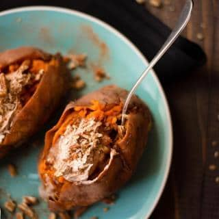 Baked Sweet Potatoes with Whipped Cinnamon Honey Butter