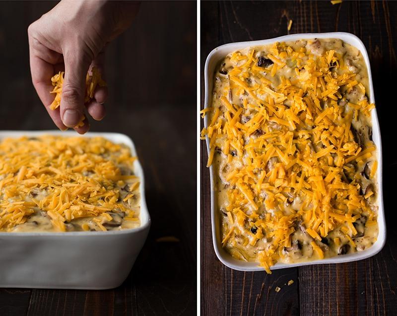 Cheesy Au Gratin Potatoes - Adding Cheese On Top