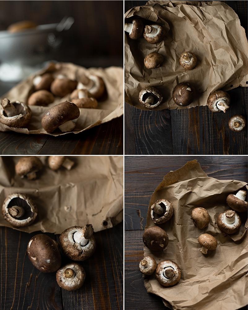 Cheesy Au Gratin Potatoes - Mushrooms