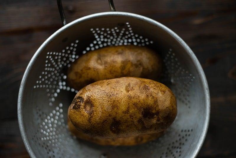 Cheesy Au Gratin Potatoes - Raw Potatoes