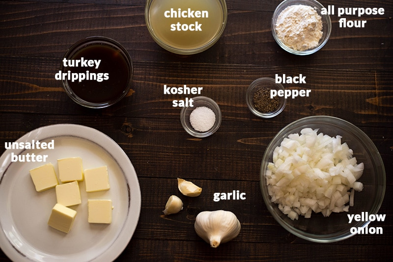 Homemade Turkey Gravy - Ingredients