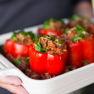 Stuffed Bell Peppers | An easy, healthy, and delicious family meal! | A Sweet Pea Chef