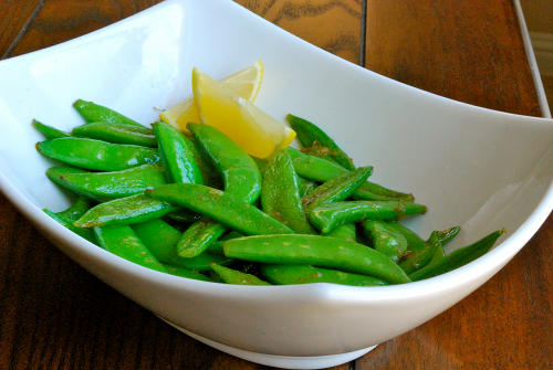 Lemon Snap Peas recipe and images by Lacey Baier, a sweet pea chef
