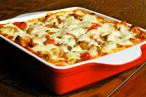 Meat Lasagna recipe and images by Lacey Baier, a sweet pea chef