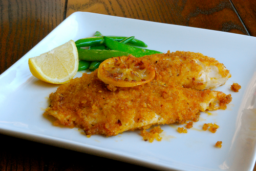 Panko-Crusted Tilapia recipe and images by Lacey Baier, a sweet pea chef