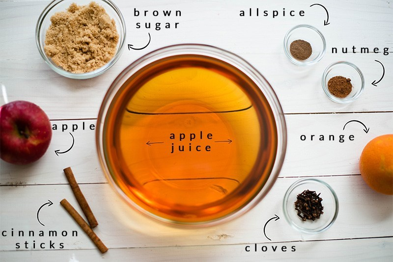 Easy Hot Apple Cider Recipe - Ingredients