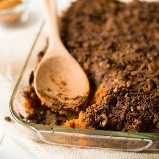 This Easy Sweet Potato Casserole uses fresh sweet potatoes, and is perfectly sweet, dense, and crunchy. Say hello to your new favorite Thanksgiving side!