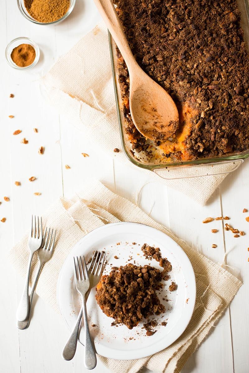 Healthy Sweet Potato Casserole   A healthy take on a family Thanksgiving favorite. www.asweetpeachef.com
