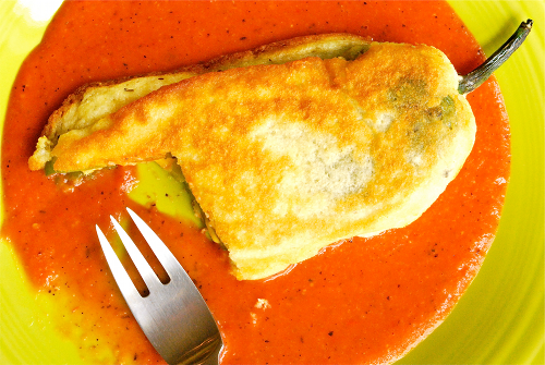 Chiles Rellenos recipe and images by Lacey Baier, a sweet pea chef