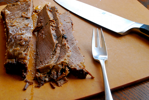 Texas Beef Brisket recipe and images by Lacey Baier, a sweet pea chef