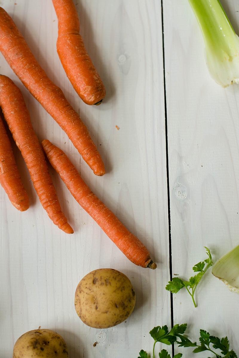 Easy Chicken And Dumplings - Vegetables