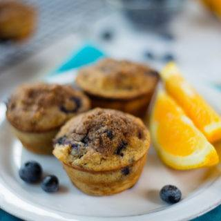 Orange Scented Blueberry Muffins | Simple, healthy blueberry goodness! | A Sweet Pea Chef